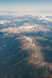 Mountains viewed from the sky Royalty Free Stock Photography