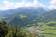 Mountains village in Austria Royalty Free Stock Image