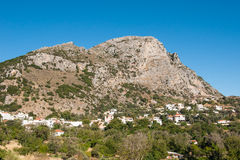 Mountains and a village in Crete Stock Photos