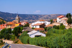Mountains village in summer day.  Frias de Albarracin Royalty Free Stock Image
