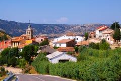 Mountains village in summer day.  Frias de Albarracin Royalty Free Stock Image