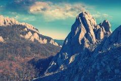 Mountains_vintage Oost- van de Krim Stock Afbeeldingen