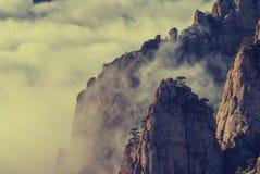 Mountains_vintage van de Krim Stock Foto