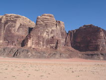 Mountains of wadi rum Royalty Free Stock Photos