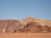 Mountains of wadi rum Royalty Free Stock Photo