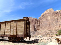 Mountains of Wadi Rum Desert also known as The Valley of the Moon, Jordan Stock Photography