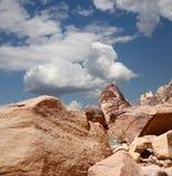 Mountains of Wadi Rum Desert, Jordan Royalty Free Stock Photos
