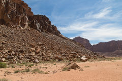 Mountains of Wadi Rum Desert, southern Jordan Royalty Free Stock Image