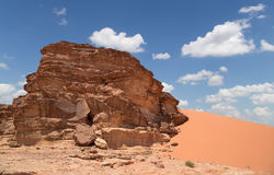 Mountains of Wadi Rum Desert, southern Jordan Royalty Free Stock Photography