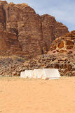 Mountains of Wadi Rum Desert, southern Jordan Royalty Free Stock Images