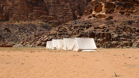 Mountains of Wadi Rum Desert, southern Jordan Stock Photography