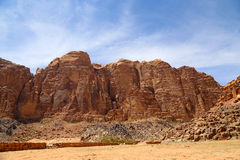 Mountains of Wadi Rum Desert, southern Jordan Stock Photos