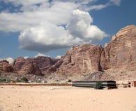 Mountains of Wadi Rum Desert, southern Jordan Stock Photography