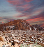 Mountains of Wadi Rum Desert, southern Jordan Stock Images