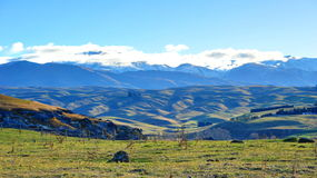 Mountains at Waitaki Valley, New Zealand Stock Image