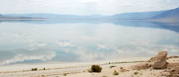Mountains and walker lake in Nevada Stock Photo