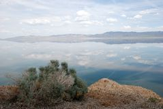 Mountains and walker lake in nevada Stock Image