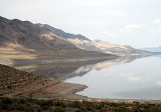 Mountains and walker lake in nevada Royalty Free Stock Photo