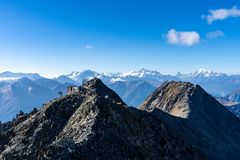 Mountains in Wallis Alps Switzerland stock photos