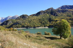 Mountains and water in Pyrenees. Bubal Stock Photography