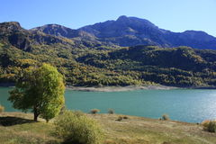 Mountains and water in Pyrenees. Bubal Stock Images