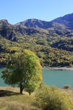 Mountains and water in Pyrenees. Bubal Royalty Free Stock Photography