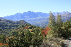 Mountains and water in Pyrenees. Panticosa Royalty Free Stock Photo