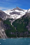 Mountains and waterfall Tracy Arm Fjord Alaska Royalty Free Stock Photography