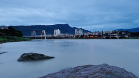 Mountains and waters city. Mountains and waters,the night comes,a beautiful city-Yaan,SiChuan Stock Photography