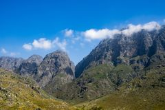 Mountains on Western Cape, South Africa Royalty Free Stock Image