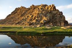 Mountains in Western Mongolia Royalty Free Stock Photos