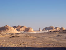 Mountains of the White Desert. Lybian desert - Egypt Stock Images