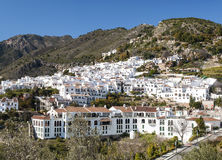 Frigiliana with mountains Royalty Free Stock Photo