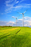 Mountain wind turbine Stock Image