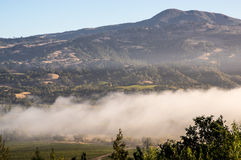 Mountains of Wine Country Sonoma California Sonoma. A morning haze hits wine country stock photography