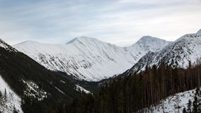 Mountains in winter Stock Images