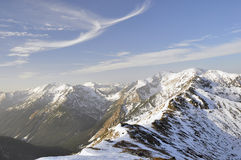 Mountains in winter Stock Photography