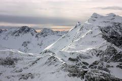 Mountains in winter. Mountain view in Austrian Alps Stock Photos