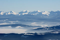 Mountains at winter Royalty Free Stock Images