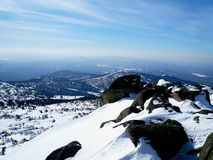Mountains in the winter Royalty Free Stock Photos