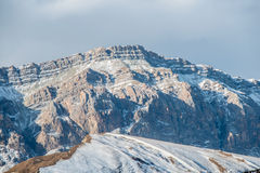 The mountains during winter in azerbaijan Royalty Free Stock Photography