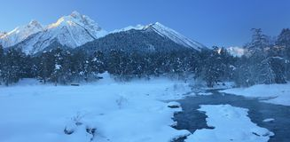 Mountains in winter Royalty Free Stock Images