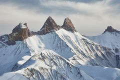 Mountains in winter Royalty Free Stock Photography
