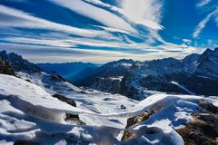 mountains in winter landscape view snow ice royalty free stock photos