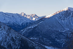 Mountains winter morning Royalty Free Stock Photography