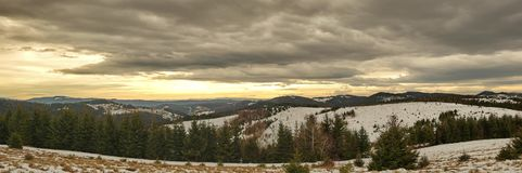 Mountains winter panorama landscape royalty free stock photos