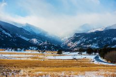 Mountains Winter Scenery Royalty Free Stock Photo