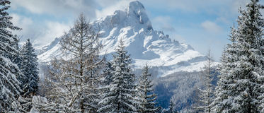Mountains in Winter Stock Photo