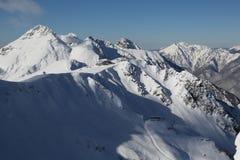 The mountains. Winter slopes of the Aibga Ridge Royalty Free Stock Photos