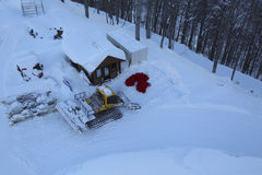 The mountains. Winter slopes of the Aibga Ridge Stock Images